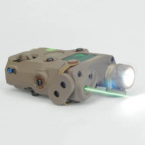 FMA AN/PEQ-15 Upgrade Version LED White Light + Green Laser with IR Lenses 270 Lumens  Hunting Rifle Battery Case Element