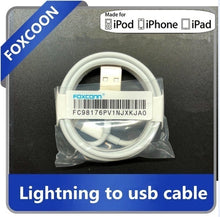Load image into Gallery viewer, 1/2/5pcs 1M 8 pin Lightning Charge Sync Cable Charger for iPhone 6 6S 5 5S 7 Plus X XS ipad wire OEM by foxconn