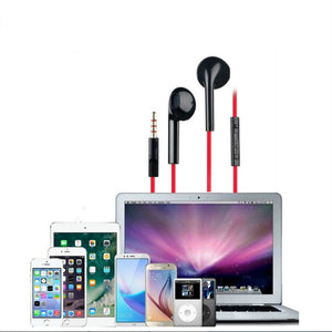 Subwoofer stereo headset 3.5mm semi in ear remote control headset with micro phone suitable for computer mobile phone player universal