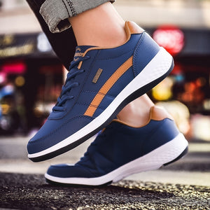 Fashion Men's Casual Sneakers PU Leather Sports Shoes Outdoor Comfortable Running Shoes Trainers for Men