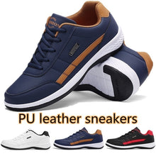 Load image into Gallery viewer, Fashion Men's Casual Sneakers PU Leather Sports Shoes Outdoor Comfortable Running Shoes Trainers for Men