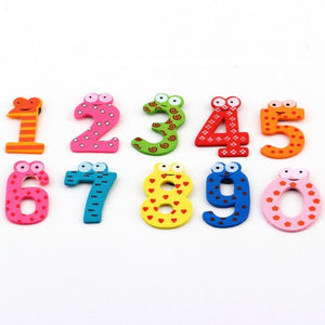 Fridge Wooden Magnet Baby Children Toy A-Z ABC Educational Alphabet 26 Letter