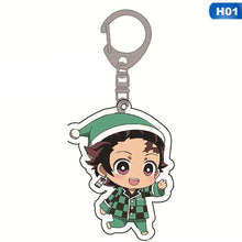 Load image into Gallery viewer, 11 Styles Demon Slayer: Kimetsu No Yaiba Acrylic Keychain Keyring Cosplay Anime Gifts Valentines For Lover