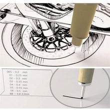 Load image into Gallery viewer, 9x Sakura Pigma Micron Drawing Pen 005 01 02 03 04 05 08 1.0 Brush Art Supplies