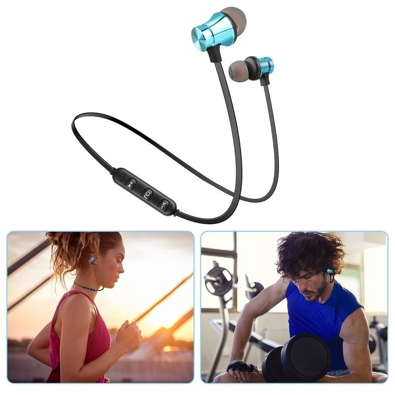Bluetooth 4.2 Earphone Magnetic Wireless Headphones Sport Stereo Headset Earbuds IH