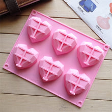Load image into Gallery viewer, DIY 3D Heart Shape Silicone Mousse Cake Molds Jelly Pudding Mould