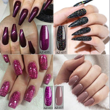 Load image into Gallery viewer, 2 Bottles/Set New Fashion Glitter UV Gel Nail Polish Set Nude Color Series Led Nail Gel Varnish Semi Permanent Nail Lacquer Sequins Gel