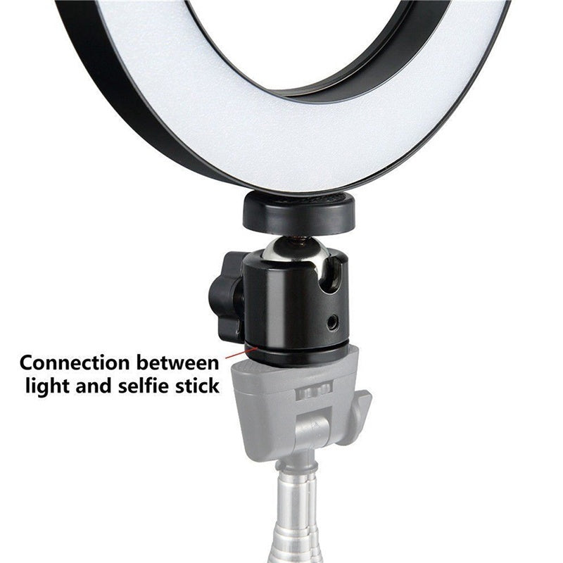 6' LED Ring Light Dimmable USB 5500K Fill Lamp Photography Phone Video Live