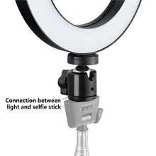 Load image into Gallery viewer, 6' LED Ring Light Dimmable USB 5500K Fill Lamp Photography Phone Video Live