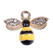 Load image into Gallery viewer, 10Pcs/Set Enamel Crystal Honeybee Charms Pendant Jewelry DIY Making Craft Gift