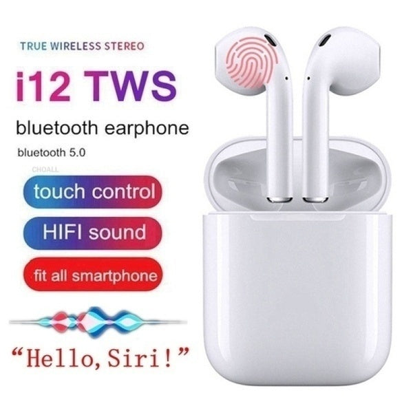 Mini I12 TWS Earbuds Wireless Bluetooth 5.0 Earphone Smart Touch Control With Charging Box