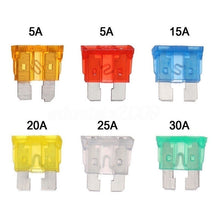 Load image into Gallery viewer, 60Pcs Mini Blade Fuse Mixed Mini Standard Blade Fuse Car Auto 5A 7.5A 10A 15A 20A 25A 30A