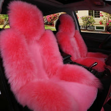 Load image into Gallery viewer, 1pc Natural Fur Australian Sheepskin Car Seat Covers Universal Size Winter Warm Fur Seat Cover Auto Interior Accessories