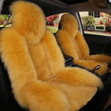 1pc Natural Fur Australian Sheepskin Car Seat Covers Universal Size Winter Warm Fur Seat Cover Auto Interior Accessories