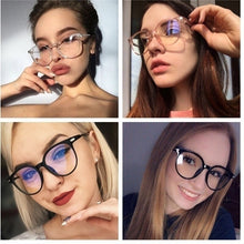 Load image into Gallery viewer, 1PC Cat Eye Sunglasses Spectacle Optical Frame Glasses Clear Lens Vintage Anti-Radiation Eyeglasses for Women and Men Glasses Oculos De Grau Oculos
