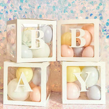 Load image into Gallery viewer, A-Z Baby Shower Boxes Transparent Balloons Packing Letter Party Decor