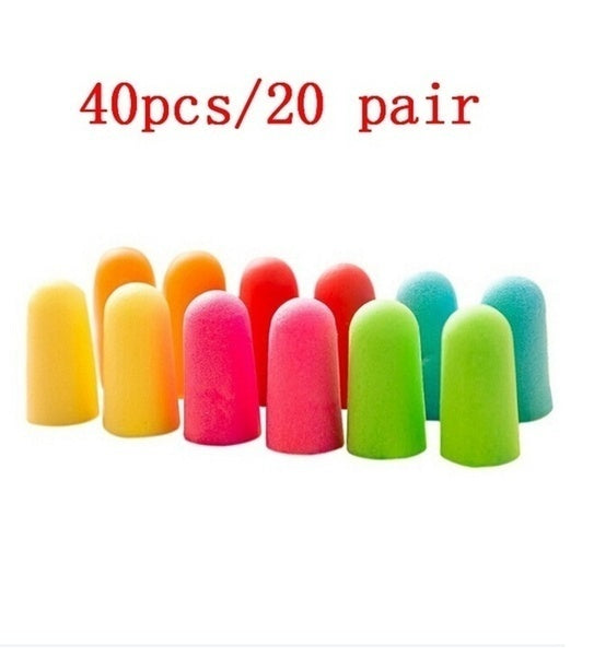 20 Pairs Soft Classic Foam Ear Plugs Travel Sleep Noise Reduction Prevention Earplugs Sound