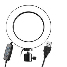 Load image into Gallery viewer, Dimmable LED Ring 5500K Fill Light Without Tripod for Camera Photo Studio Selfie Photography USB Phone Video Live