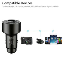Load image into Gallery viewer, Car GPS Tracker Locator Real Time Tracking Device Dual USB Car Charger Voltmeter