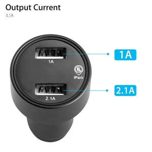 Car GPS Tracker Locator Real Time Tracking Device Dual USB Car Charger Voltmeter