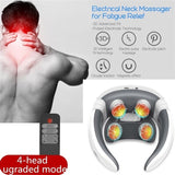 2020 New Upgrade Electric Pulse Back and Neck Massager Far Infrared Heating Pain Relief Tool Health Care Relaxation Multifunctional Physiotherapy