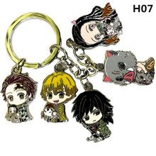 Load image into Gallery viewer, New Anime Naruto Danganronpa Demon Slayer Keychain Keyring Cosplay Anime Gifts