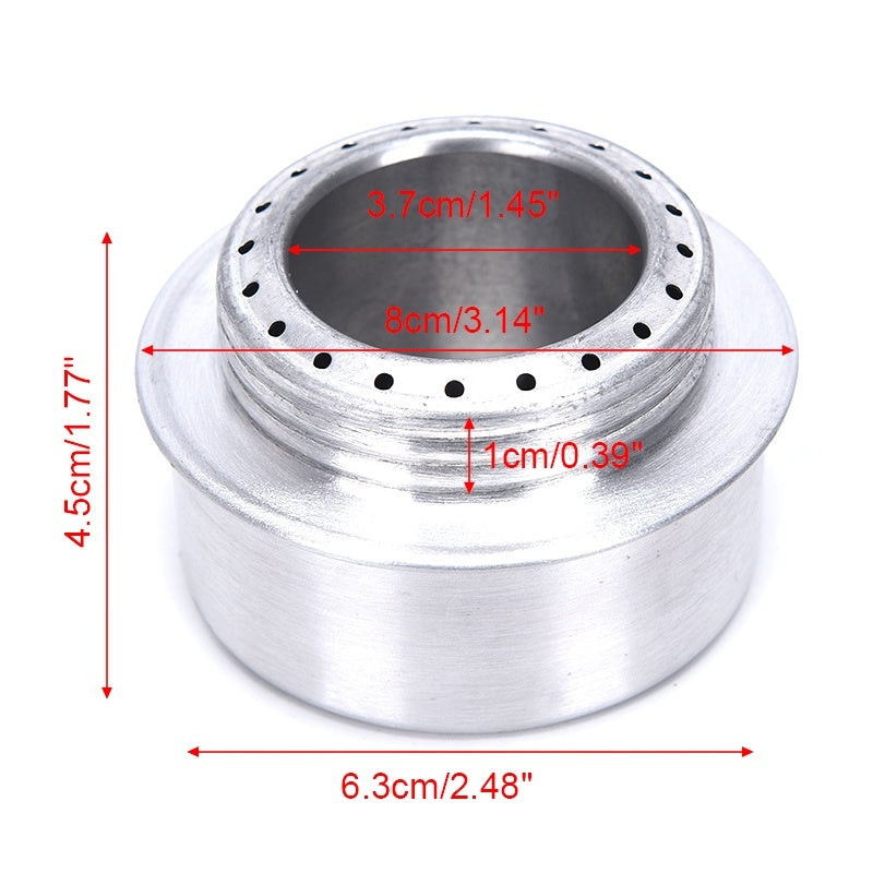 Portable Mini Aluminum Alloy Alcohol Stove with Lid Outdoor Camping Hiking Cooking Stove