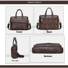 Load image into Gallery viewer, New Design Luxury Leather! Men's Business Tote Retro Briefcase Shoulder Messenger Bag Laptop Bag (2 size 3 Color)