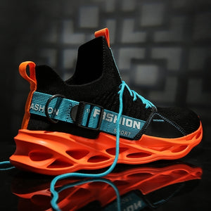 New Men's Fashion Running Sneakers Breathable Comfortable Non-slip Shoes Lightweight Tennis Shoes 5 Colors