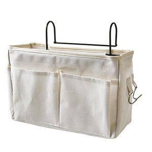 Bedside Caddy Hanging Storage Bag Cloth Pocket Bed Holder Organizer Container
