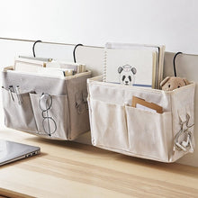 Load image into Gallery viewer, Bedside Caddy Hanging Storage Bag Cloth Pocket Bed Holder Organizer Container
