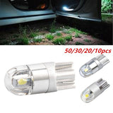 50/30/20/10pcs Super White T10 3030 2SMD LED HighPower Interior Light Bulb W5W 194 168 6W