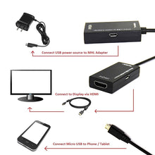 Load image into Gallery viewer, Micro USB 2.0 To HDMI HDTV TV HD Adapter Cable For Cell Phone Samsung LG S7