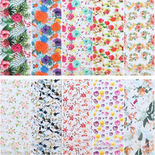 Load image into Gallery viewer, 10 Pieces of Flower Nail Decals Colorful Nail Decals Transfer Decorative Nail Stickers DIY Adhesive