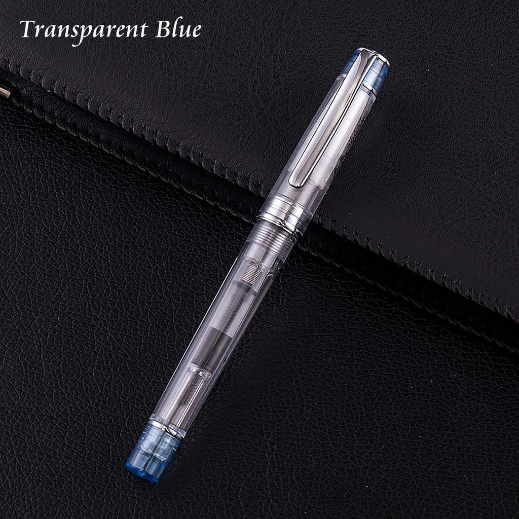 New Model Wing Sung 3003 Transparent Piston Fountain Pen Extra Fine Nib Xmas Gifts