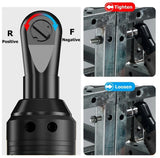12V/42V Electric Wrench Kit Cordless Right Angle Ratchet with 1/2 Batteries 3/8 Inch Rechargeable Scaffolding Wrench 65/100N.m Ratchet
