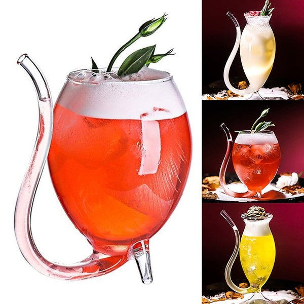 1PC Innovative Goblet Small Home Party Night Bar Drinking Glass Juice Cup