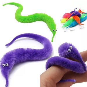 1/6/12PCS Magic Worm Toys,Wiggly Fuzzy Carnival Party Favors, Magic toys Caterpillar