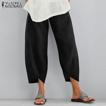 Load image into Gallery viewer, S-XXXXXL Women Solid Color Cotton Pants Loose Casual Plus Size Trousers