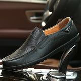 2020 New!!Mens Fashion Casual Peas Shoes Mocassin Genuine Leather Loafers Slip on Flats Driving Shoes Size 39-46