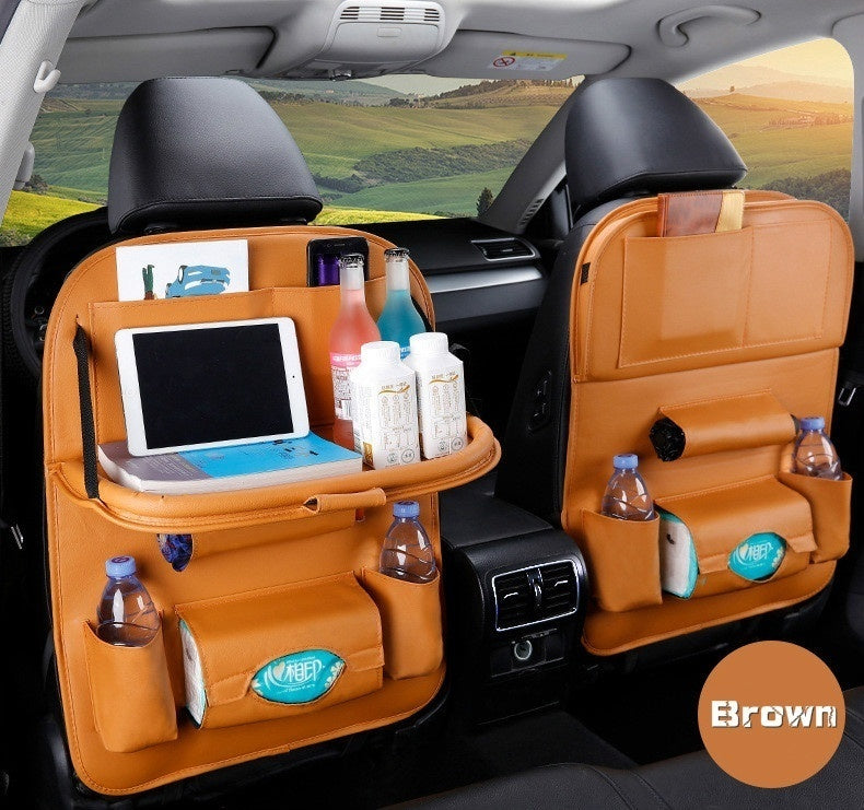PU Leather Car Bag Type Seat Back The Carrying Bags of On-board Vehicle Sundry Hanging Storage Box( Two Style )