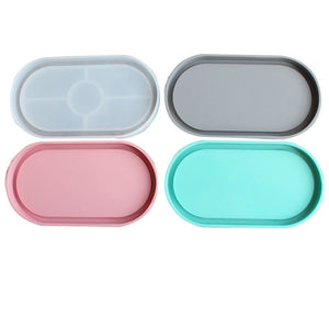 DIY Silicone  Mould  Oval Coaster Mould DIY Plaster Mold Epoxy Resin Craft Mold