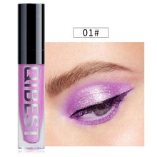 Load image into Gallery viewer, 8 Colors Pearl Shiny Liquid Eyeshadow, Gray Diamond Liquid Glitter Eye Shadow