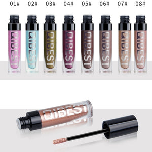 8 Colors Pearl Shiny Liquid Eyeshadow, Gray Diamond Liquid Glitter Eye Shadow