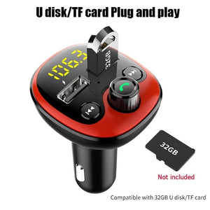 12-24V New car fm transmitter handsfree bluetooth carkit car mp3 player 3.1A Dual USB Car Phone Charger for iPhone Samsung Mobile Phone