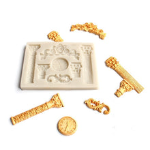 Load image into Gallery viewer, KUXSE 3D Roman Pillars Silicone Cake Mold Fondant Cake Decorating Tools Sugarcraft Clock Flower Chocolate Gumpaste Mold