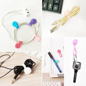 5PCS/SET Multifunction Magnet Cord Wire Winder Earphone Cord Winder Cable Organizer Wrap Gadgets Cable Organizers Clips