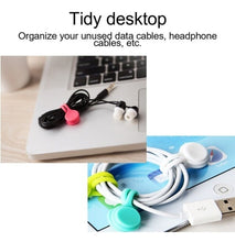 Load image into Gallery viewer, 5PCS/SET Multifunction Magnet Cord Wire Winder Earphone Cord Winder Cable Organizer Wrap Gadgets Cable Organizers Clips