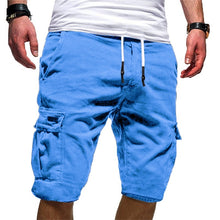 Load image into Gallery viewer, Men's Casual Solid Color Beach Shorts Elastic Wasit Cargo Shorts(XS-3XL,9 Colors)