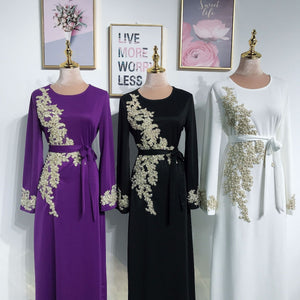 2020 NEW ARRIVAL! Islamic Muslim Party Clothing Women Muslim Dress  Kaftan Abaya Slim Party Dresses Kaftan Abaya without Jilbab